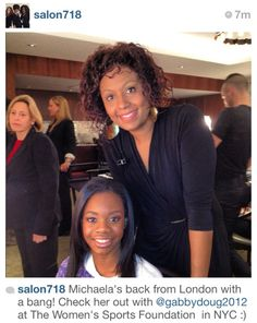 With @gabrielledoug At The Women in Sports Foundation, love her!