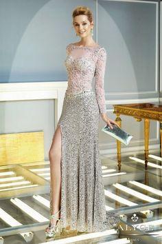 Bonitos vestidos con mangas largas   Vestidos largos para fiesta