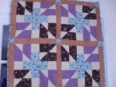 Crazy house quilt as you go