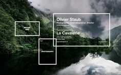 Olivier Staub Website by Philippe Cossette, via Behance