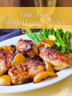 One Hour Broiled Lemon Chicken