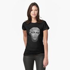 Sappho - female Greek lyric poet from the island of Lesbos Poet, Chiffon Tops, Classic T Shirts, Greek, T Shirts For Women, Island, Female, Stuff To Buy, Black