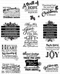 A Thrill of Hope Stamp Set: Papertrey Ink Clear Stamps Dies Paper Ink Kits Ribbon