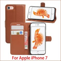 Wholesale 10pcs For Apple iPhone 7 Case Luxury Flip Leather Stand Case Hight Quality PU Leather Cover For Apple iPhone 7