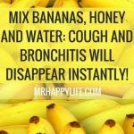 Mix Bananas, Honey and Water: Cough and Bronchitis Will Disappear - Healthy Magazine Bronchitis Remedies, Cough Remedies, Health Remedies, Bad Cough, Health Diet, Health And Wellness, What Is Asthma, Stomach Problems, Health