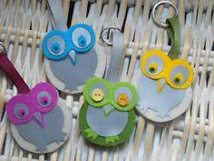 Fête des mères 2019 More owls! Rock Crafts, Felt Crafts, Easy Crafts, Diy And Crafts, Crafts For Kids, Arts And Crafts, Diy Crafts For School, Bike Craft, Embroidery Hearts