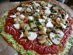 Zuccinni crust pizza...easy and amazing!