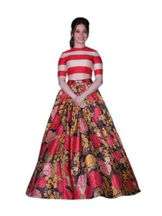 b0592dbf949 Multicolor embroidered art silk unstitched lehenga at Mirraw Lengha Dress