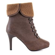 Damen High Heel Stiefelette Braun (L027) - http://on-line-kaufen.de/young-fashion/damen-high-heel-stiefelette-braun-l027