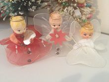 Vintage Christmas Angel Decorations Nettted Bodies