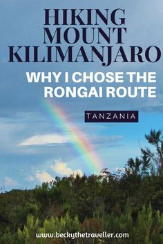 How to climb Africa's highest mountain Mt Kilimanjaro via the Rongai route Includes information about the route, hints and tips for the climb. Tanzania, Africa.