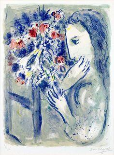 Marc Chagall, Femme pres de la fenetre (Woman by a Window), 1964