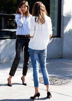 Escarpins noirs + pantalon 7/8 = l'uniforme des filles de chez Vogue Paris