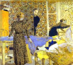 It's About Time: Sewing indoors - Jean Édouard Vuillard 1868-1940