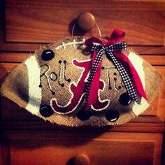 Alabama wreath--need a Falcons one!