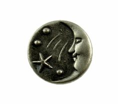 Moon & Star Metal Buttons  Smile Moon and Stars by Buttonova, $4.00