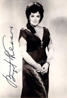 Nilsson, Birgit - Signed photo as Tosca