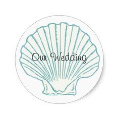 Sea Shell Wedding Envelope Seal Stickers