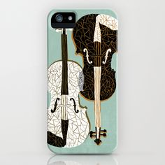 Two Violins iPhone & iPod Case #preludeposters