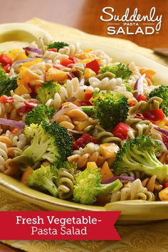 Fresh Vegetable Pasta Salad - Add pizzazz to a foolproof pasta salad, using crisp and colorful bell peppers, broccoli and onion.