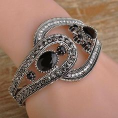2017 Fashion Wide Turkey Black Bangle For Women Party Accessories Brand Turkish Jewelry Vintage Resin Bracelets Bangles