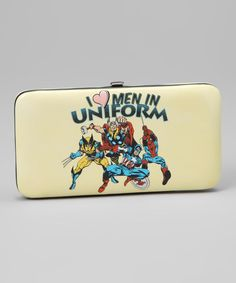 Even superheroes need to have a few bucks and show ID sometimes, so this hinged wallet will come in quite handy for crime fighters and collectors alike. It holds licenses, credit cards cards, & cash.