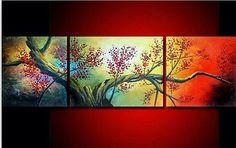 Moderna abstracta enorme pared arte Pintura al óleo sobre tela (sin Marco) K12