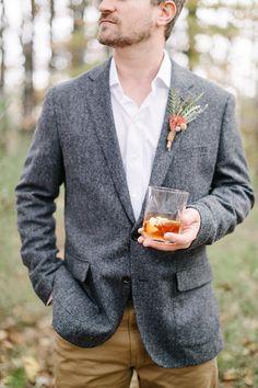 Tweed jacket for groom