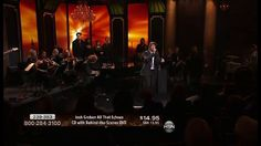 This Josh Groban concert featured a full crystal chandelier rental from SignatureChandeliers.com. #chandelier #rental #crystalchandelier #crystal #chandelierrental  #signaturechandeliers #eventdecor #concert
