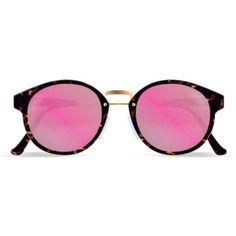RETROSUPERFUTURE Super Panama Burnt Havana ($290) ❤ liked on Polyvore featuring accessories, eyewear, sunglasses, glasses, round sunglasses, women, retrosuperfuture glasses, round frame glasses, round frame sunglasses and lens glasses