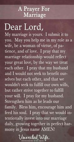 A prayer for marriage
