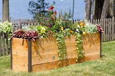 Elevated Cedar Raised Bed, 2' x 8'; #39-388; gardeners.com
