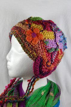 Freeform Crochet Hat  Crochet Hat by wildlywhimsical on Etsy