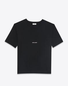 06a2acca82b5 t-shirt carré saint laurent à manches courtes en jersey de coton noir