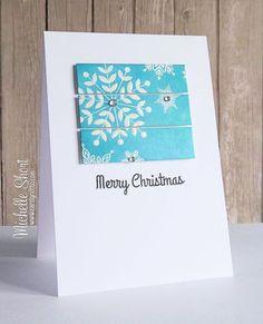 The Card Grotto: Simon's Snowflakes white heat embossed, plus distress ink