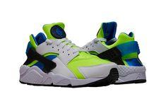 "huge discount fffc4 820bd Nike Air Huarache ""Scream Green"" Release info Volt Photo Blue OG colorway  sneaker footwear"