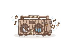 Wooden Boombox by Chris #Design Popular #Dribbble #shots