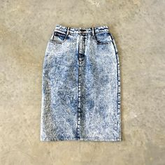 f17bde7a6d5 Items similar to pentimento acid wash skirt