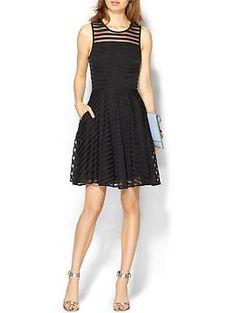 Piperlime Collection Sheer Yoke Dress