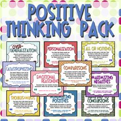 Positive Thinking Pack   - Pinned by Duggs  What a great way to put REBT into action with students!