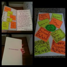 "Diy card I made for my boyfriend for our anniversary..all it is is a 11"" x 14"" poster board that is folded in half that has colored note cards (all cut in half) that has a couple different ways to say I love you in different languages hot glued to it and wrote on with purple sharpie..it took me about an hour to make and it was super easy"