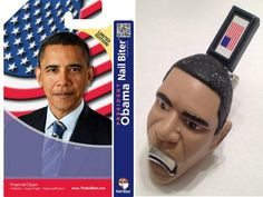 Start the new year off clean with your own pair of President Obama Nail Clippers...