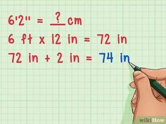 3 Ways to Convert Inches to Centimeters - wikiHow Lumber Sizes, Math Equations