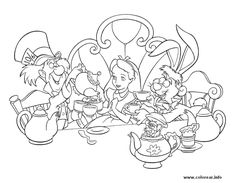 95 Best Alice In Wonderland Adult Coloring Pages images | Coloring ...