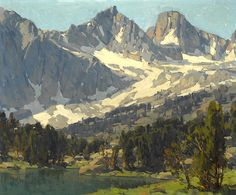 paintingbox:  Edgar Payne (American, 1883-1947), Mount Gayley and Mount Sill, Big Pine, High Sierras, California. Oil on canvas 25 x 30 in. ...