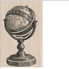 New to pinkflamingo61 on Etsy: Globe map rubber stamp  stamps  stamping vintage style   supplies  number 19409 (5.55 USD)