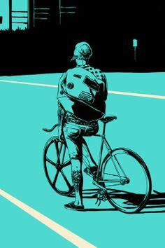 illustration by adams carvalho Art And Illustration, Illustrations Posters, Fixi Bike, Bicycle Art, Bike Rides, Bicycle Design, Road Bike, Arte Pop, Sketch Manga
