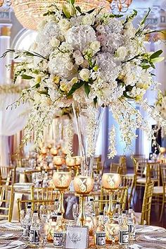 27 Gorgeous Tall Wedding Centerpieces To Impress Your Guests ❤ Tall wedding centerpieces are one of the brilliant ideas how to decorate your reception. See more: http://www.weddingforward.com/tall-wedding-centerpieces/ #weddings #decoration