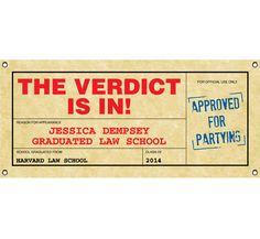 custom party banner for law school graduation