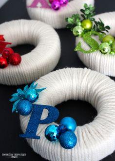 Mini Monogram Wreaths